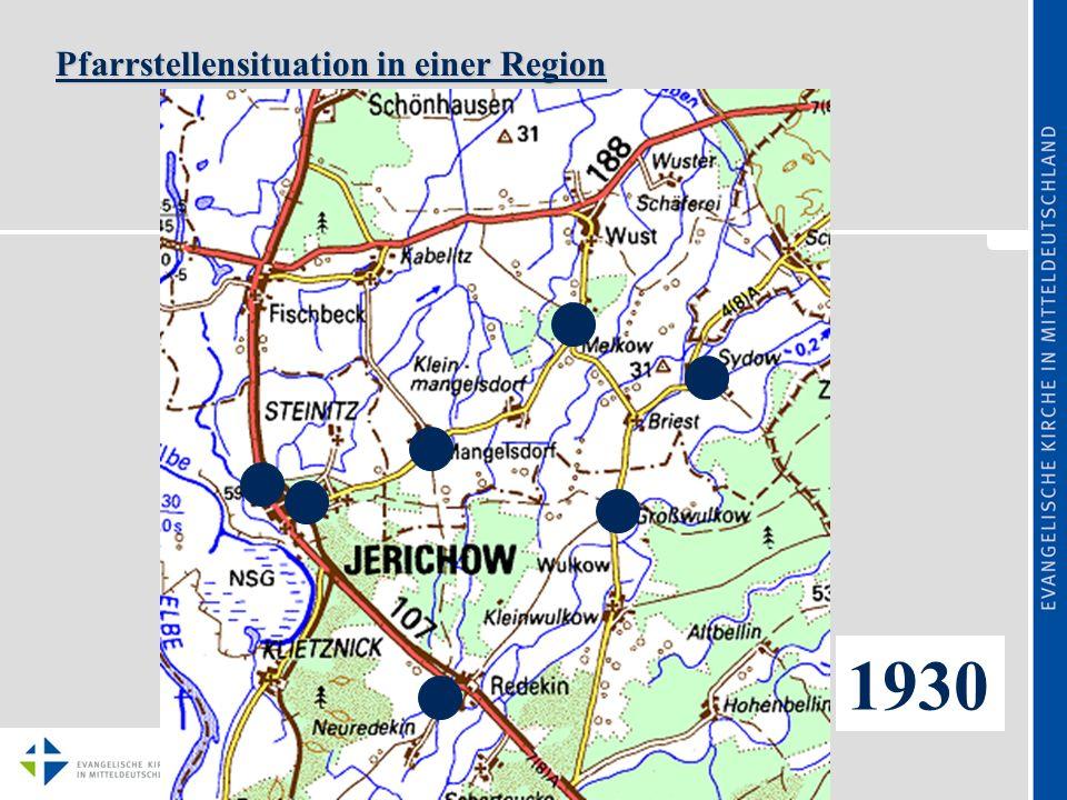 Pfarrstellensituation in einer Region 1960