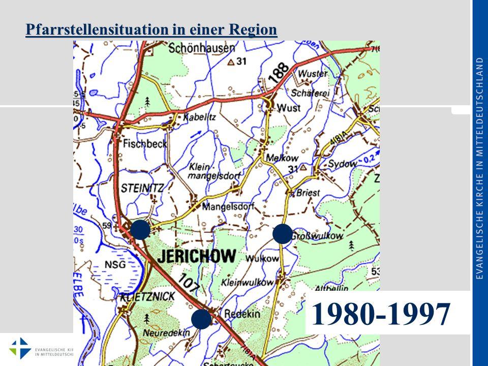 Pfarrstellensituation in einer Region ab 1997