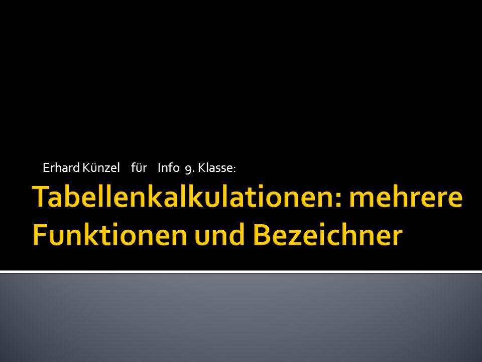 Erhard Künzel für Info 9. Klasse: