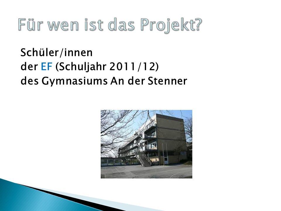 Das Projekt dauert 2 Jahre. Anfang EF 1EF 2Q1.1 Q1.2 Ende September 2011Juli 2013
