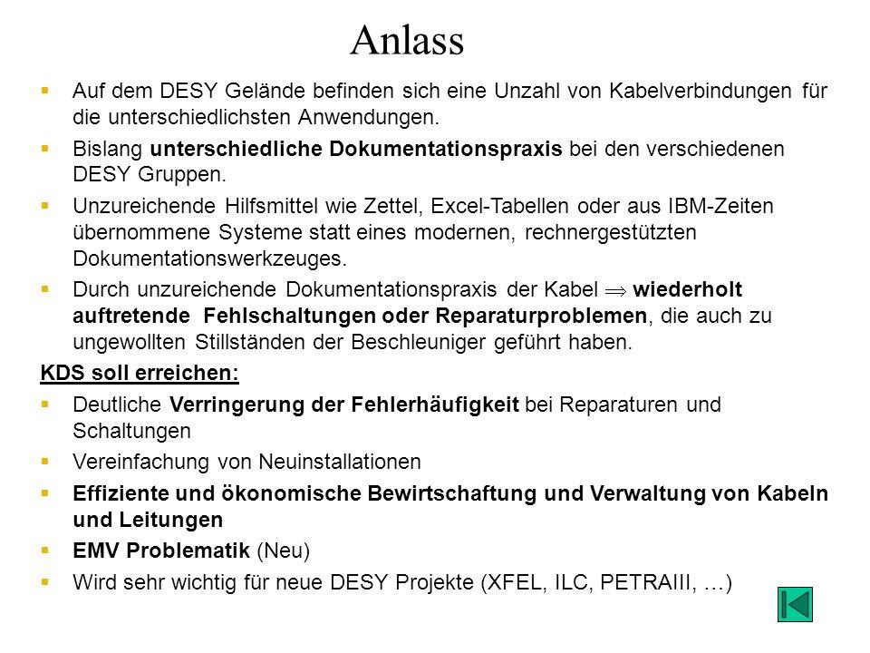 Schulungen DESY-Gruppen im KDS und Anwender (Mai 2011) –MDI- MCS –MKK- FLA –IT- XFEL –IT-TK- MVS –IPP- MSK –MPS- … –HASYLAB –MHF-E –MHF-P –MKS –MIN –HASYLAB-SHT –ZEUTHEN –EMBL Read-Zugriff: ca.