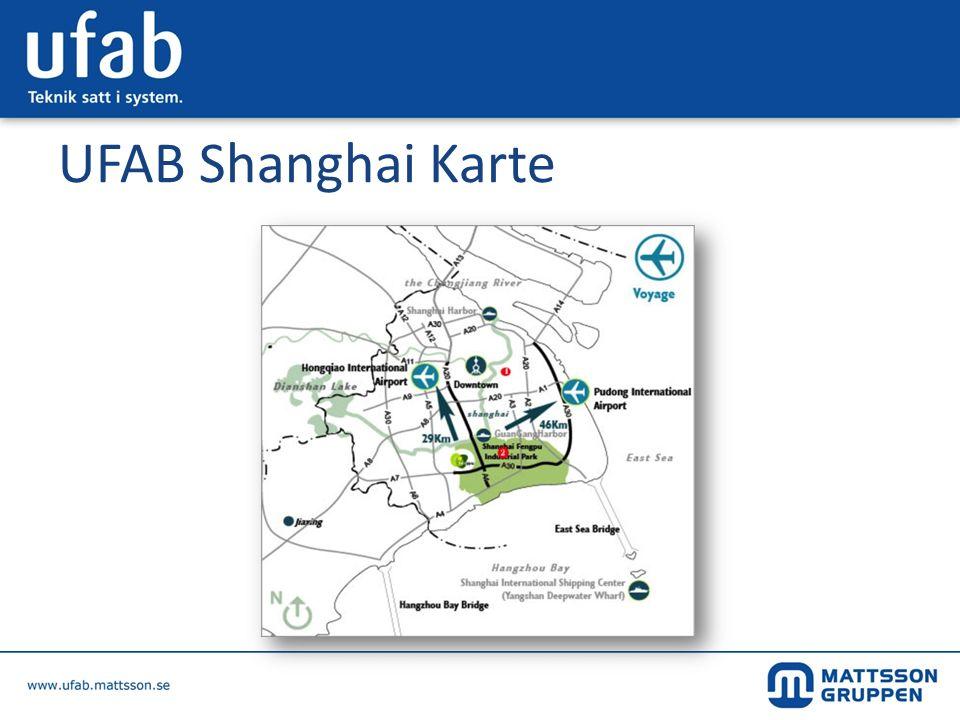 UFAB Shanghai Karte