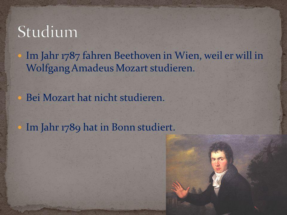 Erste Tournee hattet im Jahr 1796.Er war in Prag, Bratislava und Berlin.