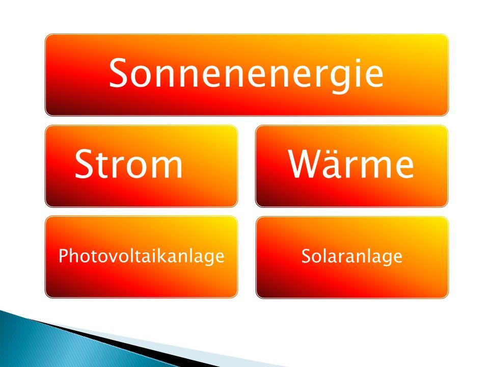 SonnenenergieStrom Photovoltaikanlage Wärme Solaranlage