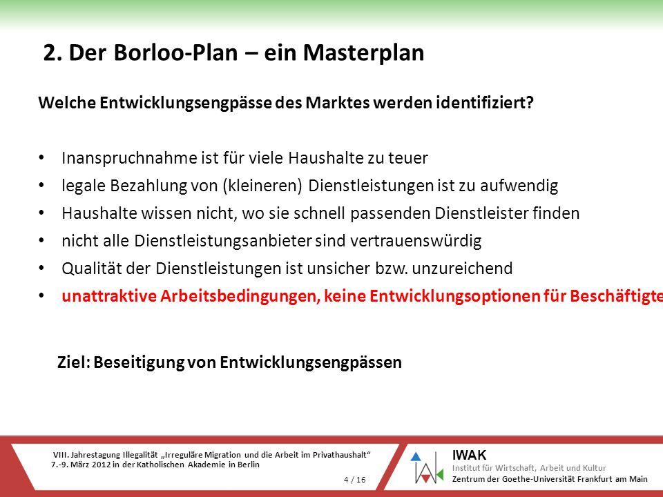 VIII. Jahrestagung Illegalität Irreguläre Migration und die Arbeit im Privathaushalt 7.-9. März 2012 in der Katholischen Akademie in Berlin 4 / 16 IWA