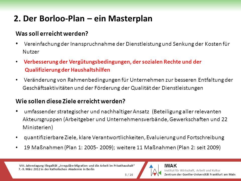 VIII. Jahrestagung Illegalität Irreguläre Migration und die Arbeit im Privathaushalt 7.-9. März 2012 in der Katholischen Akademie in Berlin 5 / 16 IWA