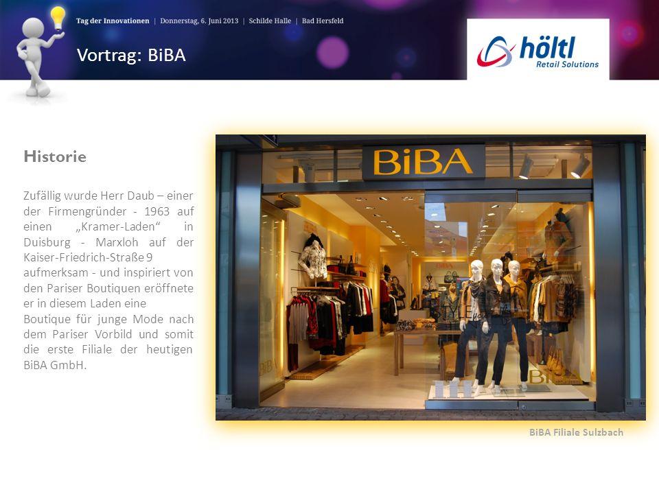 Vortrag: BiBA BiBA Filiale Sulzbach Historie Zufällig wurde Herr Daub – einer der Firmengründer - 1963 auf einen Kramer-Laden in Duisburg - Marxloh au