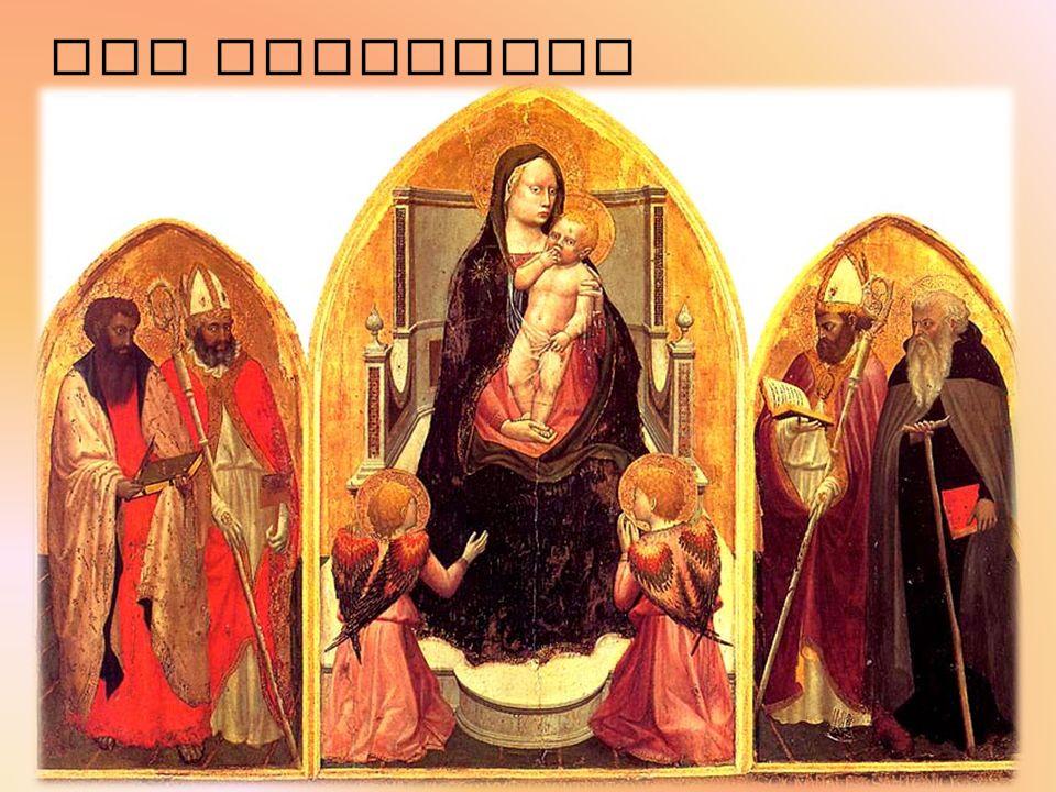 SAN GIOVENALE TRYPTYCHON Das erste Werk zu Masaccio geschrieben Realisierung: im Jahr 1422 Entdeckung : im Jahr 1961 in der Kirche San Giovenale Gemälde in Tempera und Gold auf Holz Dreidimensionalität