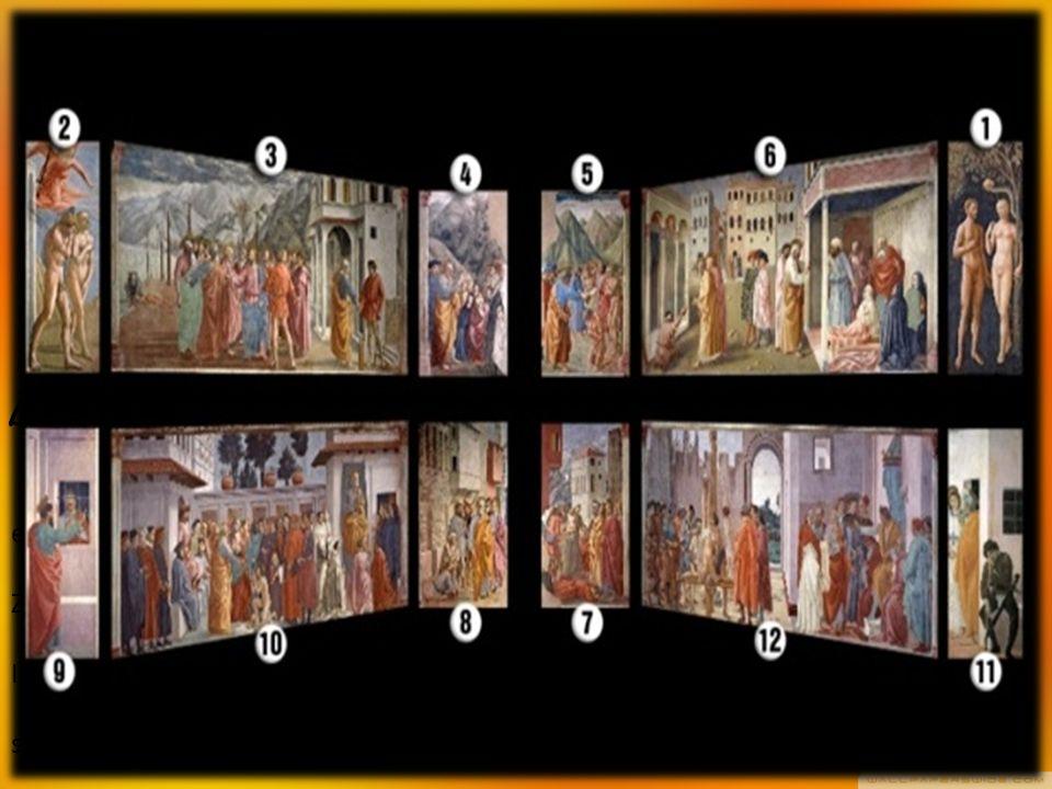 BRANACACCI KAPELLE eine der höchsten Beispiele der Renaissance-Malerei Zusammenarbeit von Masaccio und Masolino Im Jahre 1424: Freskenzyklus mit Szenen aus der Genesis und der Geschichte Petri sie nicht beenden die Kapelle ca.