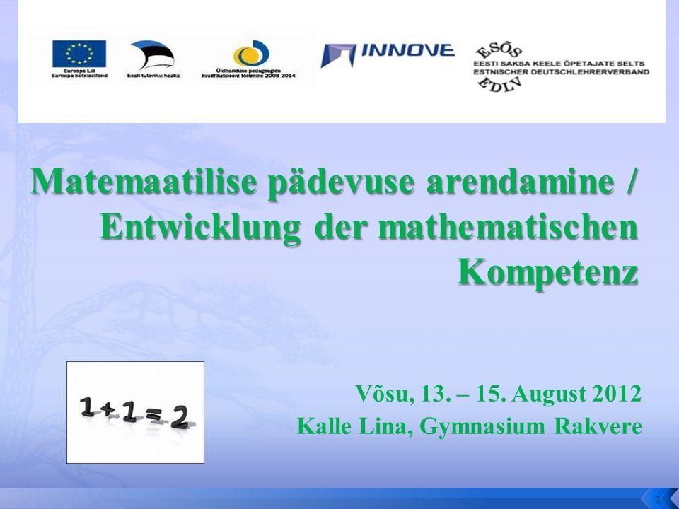 Võsu, 13. – 15. August 2012 Kalle Lina, Gymnasium Rakvere 1