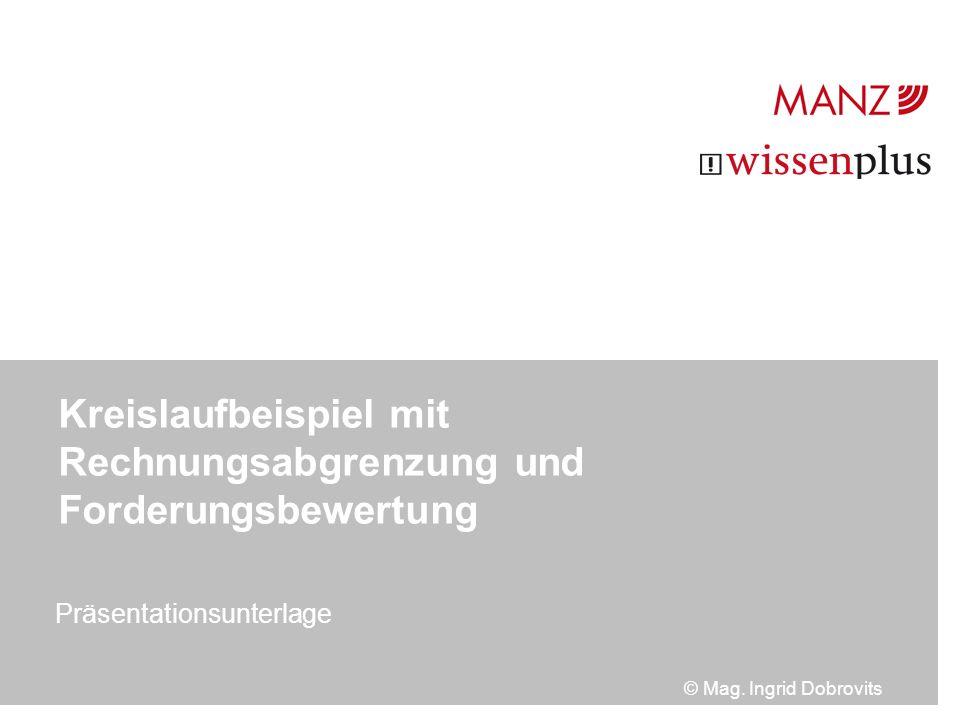 Kreislaufbeispiel mit Rechnungsabgrenzung und Forderungsbewertung Präsentationsunterlage © Mag. Ingrid Dobrovits