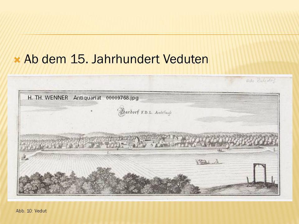Ab dem 15. Jahrhundert Veduten Abb. 10: Vedut