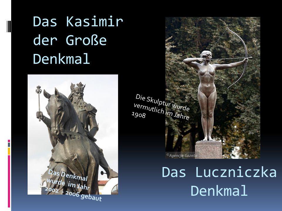 Das Denkmal Przechodzący przez rzekę Skulptur von George Kędziora wurde am 1.