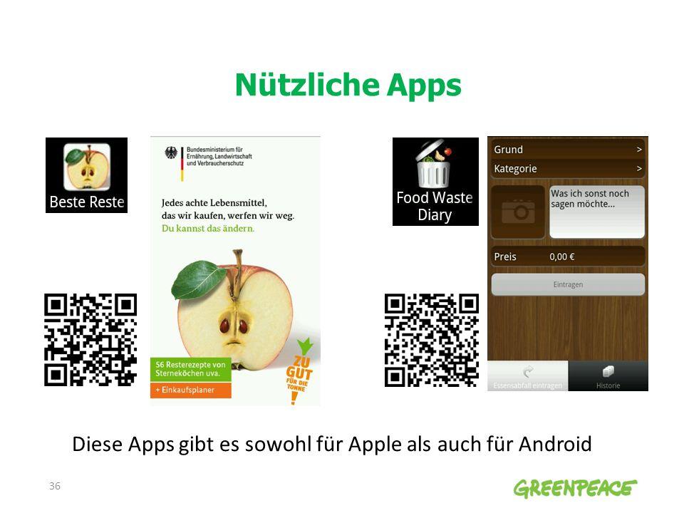 Nützliche Apps 36 Diese Apps gibt es sowohl für Apple als auch für Android