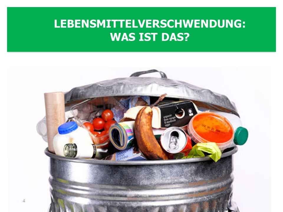 In Deutschland werden mindestens 11 Millionen Tonnen Lebensmittel jährlich weggeworfen, EU-weit ca.