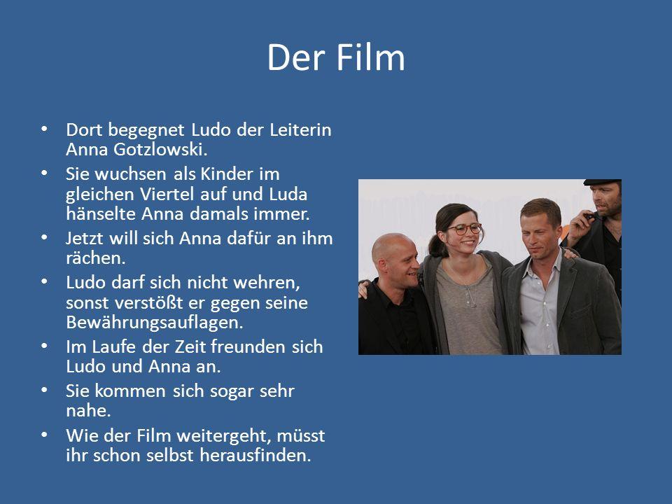 Der Film Dort begegnet Ludo der Leiterin Anna Gotzlowski. Sie wuchsen als Kinder im gleichen Viertel auf und Luda hänselte Anna damals immer. Jetzt wi