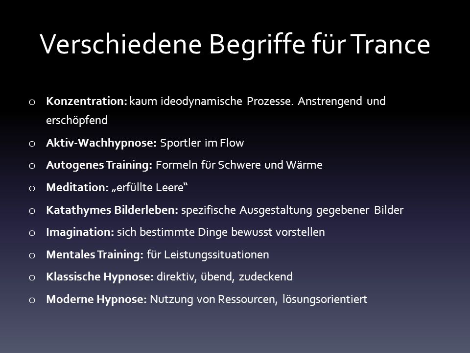 Was ist Trance.