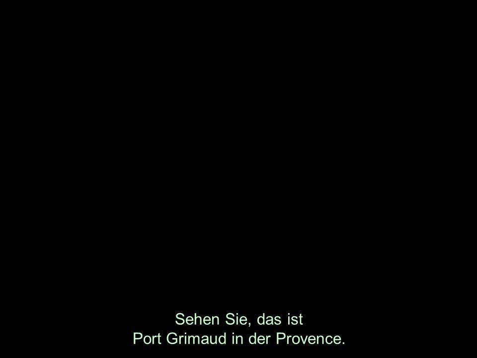 Sehen Sie, das ist Port Grimaud in der Provence.