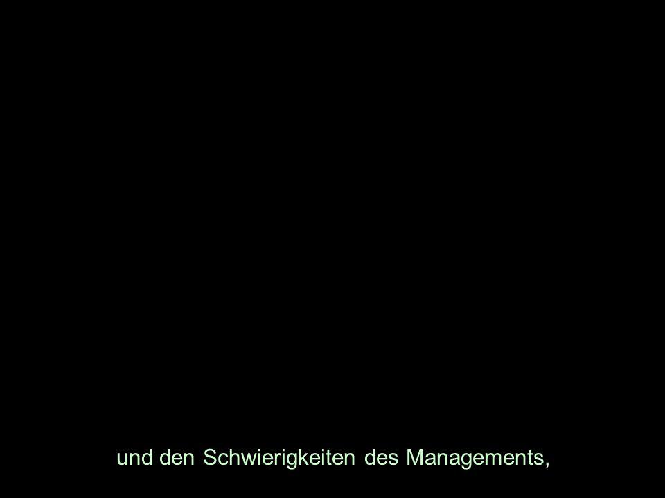 und den Schwierigkeiten des Managements,