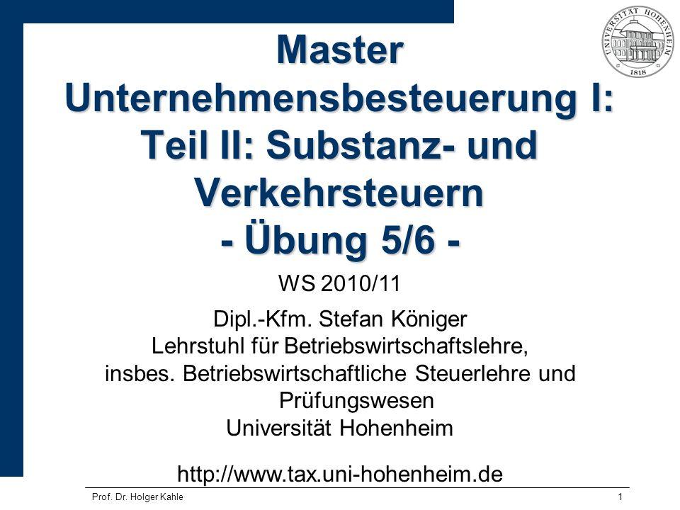Prof.Dr. Holger Kahle22 Prof. Dr.