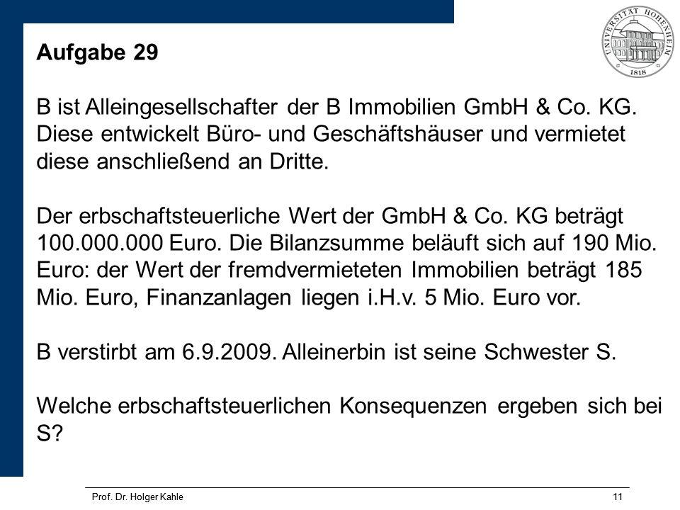 Prof.Dr. Holger Kahle11 Prof. Dr.