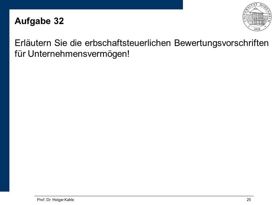 Prof.Dr. Holger Kahle25 Prof. Dr.
