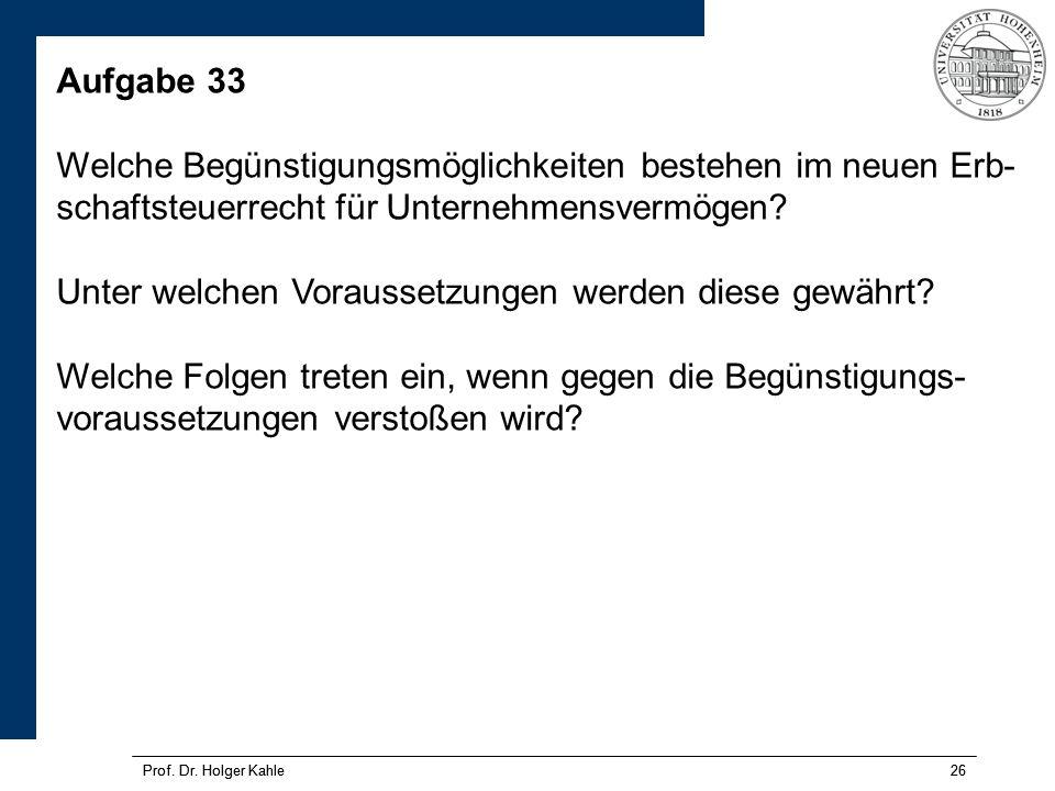 Prof.Dr. Holger Kahle26 Prof. Dr.