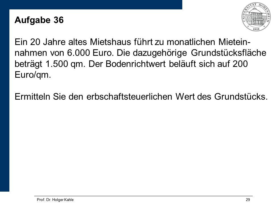 Prof.Dr. Holger Kahle29 Prof. Dr.