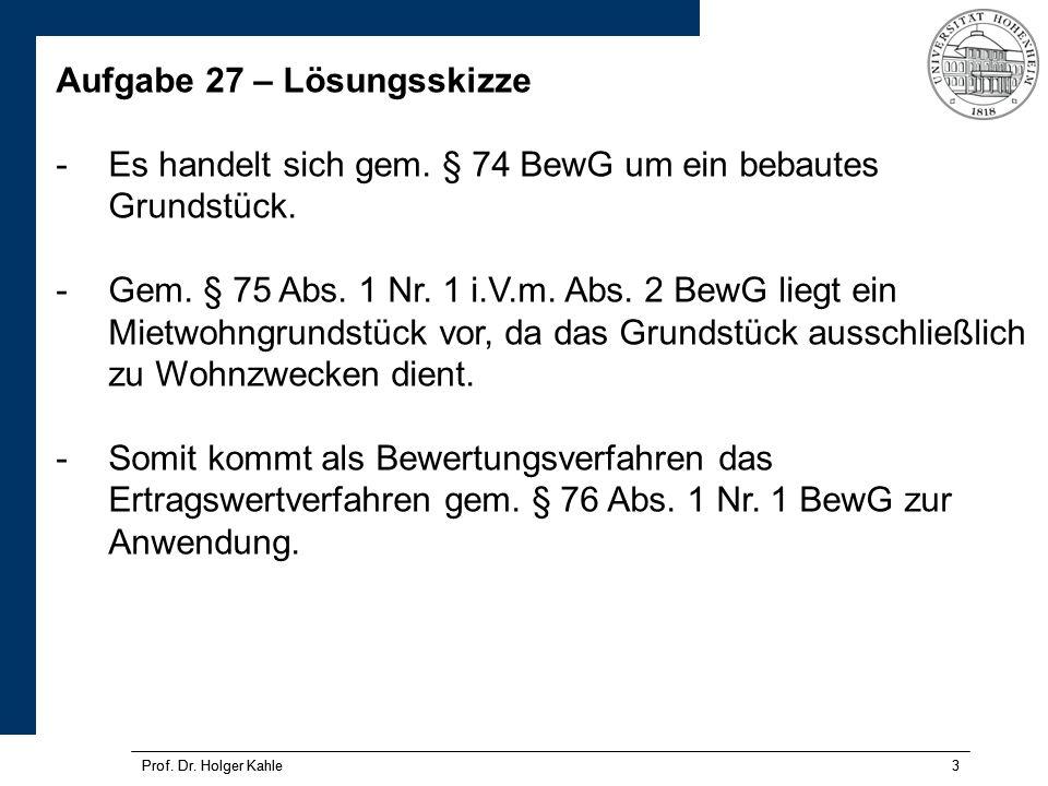 Prof.Dr. Holger Kahle14 Prof. Dr.