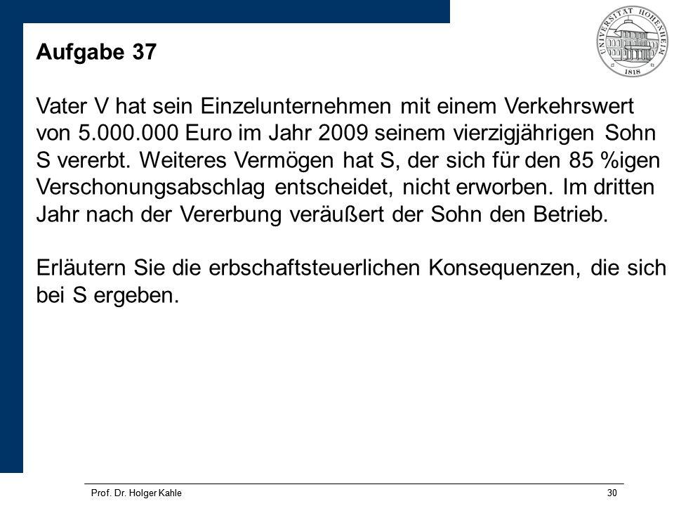 Prof.Dr. Holger Kahle30 Prof. Dr.