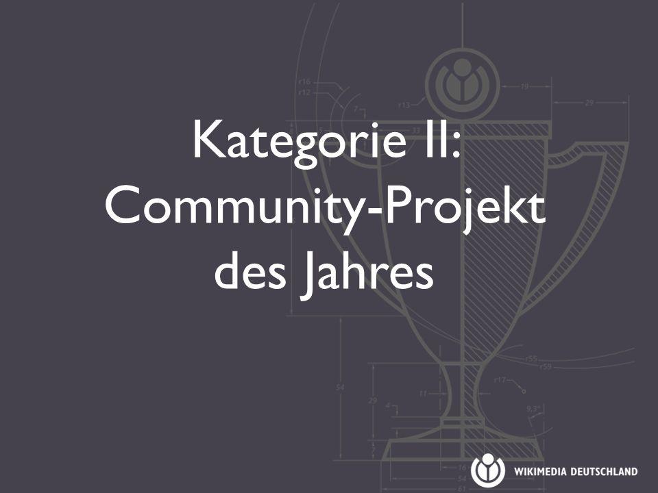 Kategorie II: Community-Projekt des Jahres