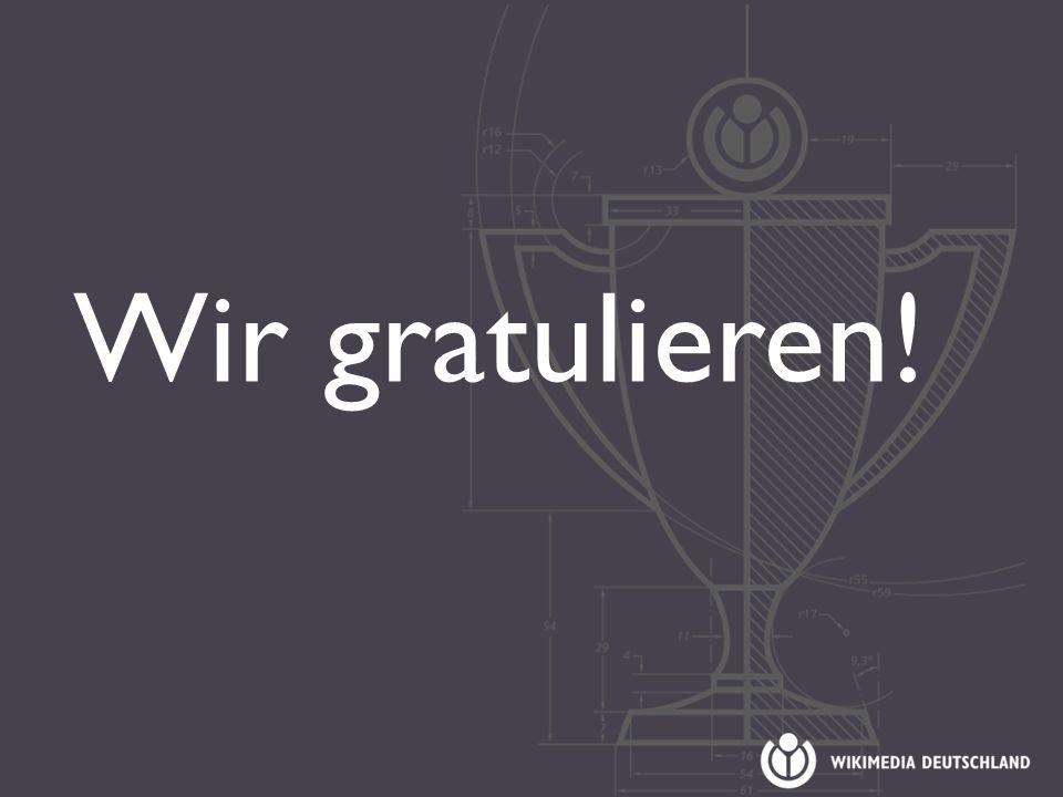 Wir gratulieren!