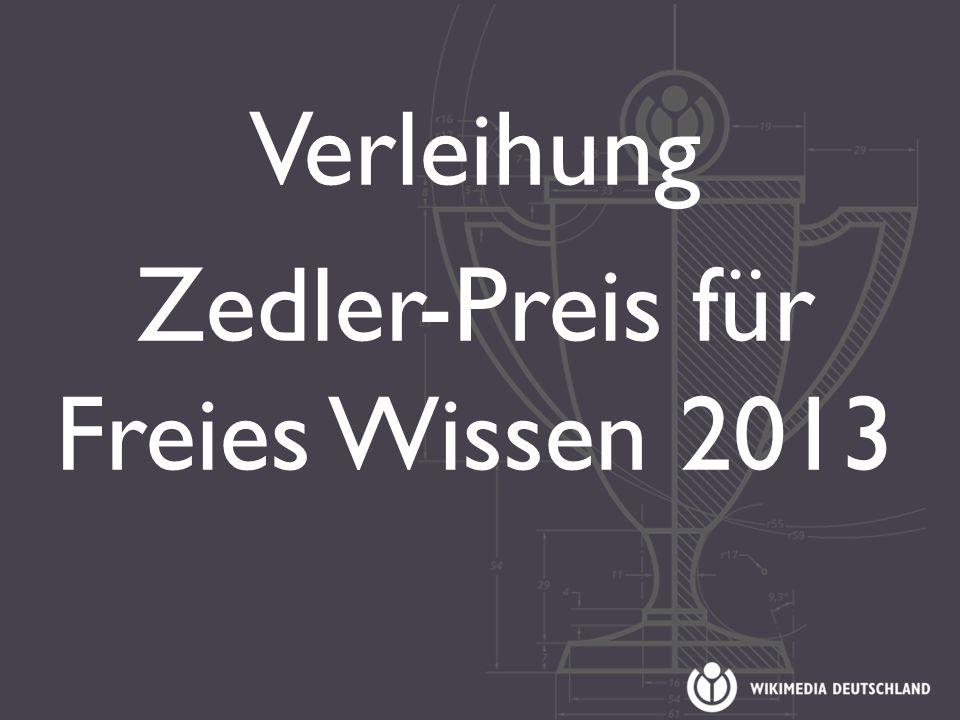 Verleihung Zedler-Preis für Freies Wissen 2013