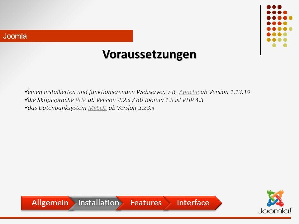 einen installierten und funktionierenden Webserver, z.B.