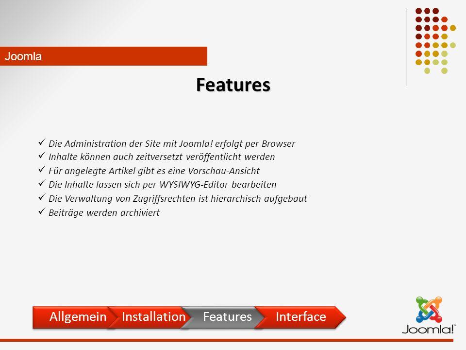 Die Administration der Site mit Joomla.