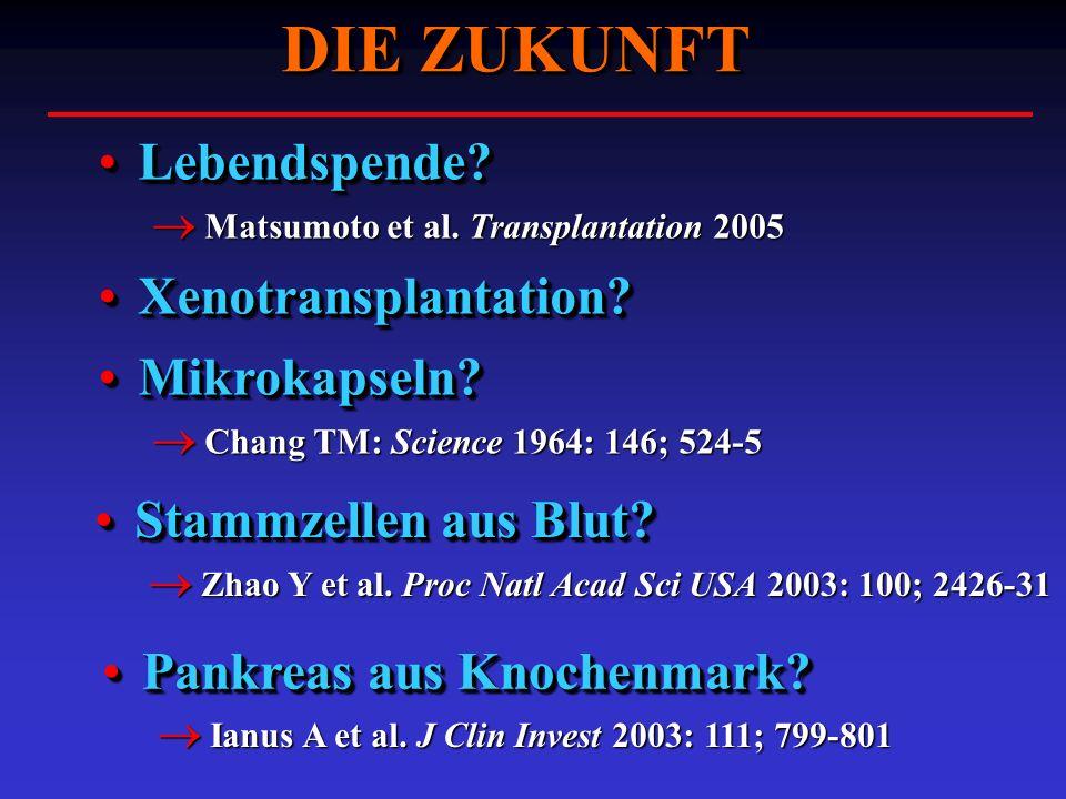 DIE ZUKUNFT Stammzellen aus Blut?Stammzellen aus Blut? Zhao Y et al. Proc Natl Acad Sci USA 2003: 100; 2426-31 Zhao Y et al. Proc Natl Acad Sci USA 20