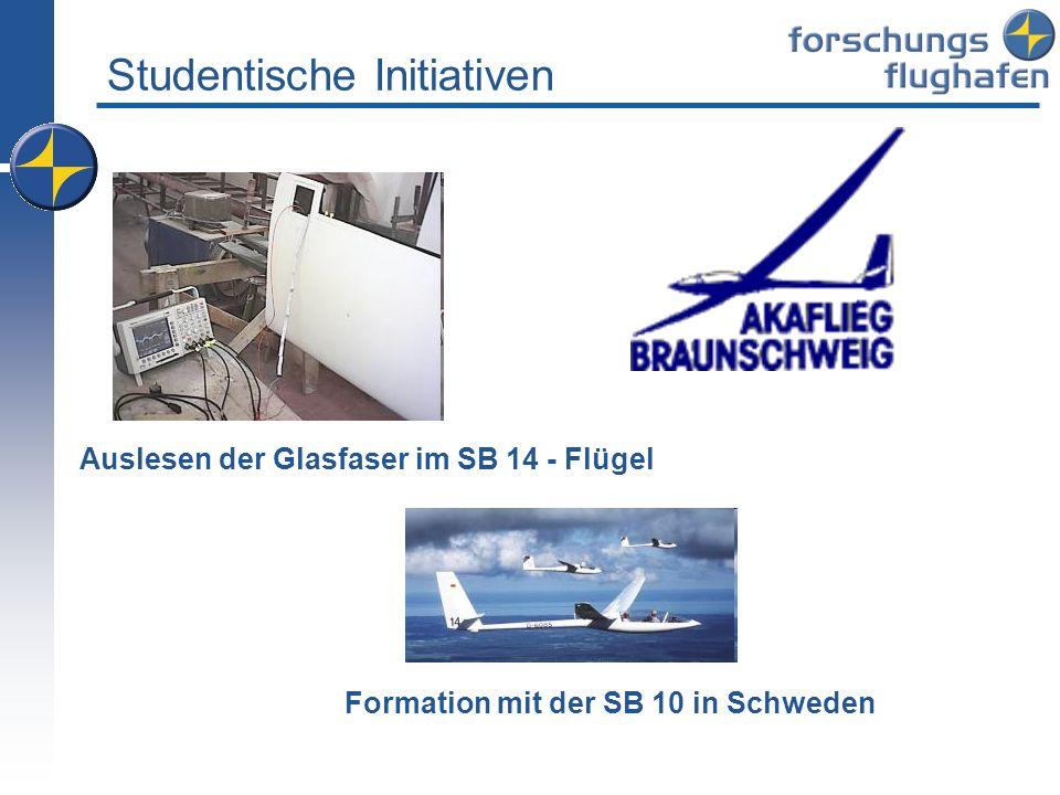 Studentische Initiativen BEOSAT Auslesen der Glasfaser im SB 14 - Flügel Formation mit der SB 10 in Schweden