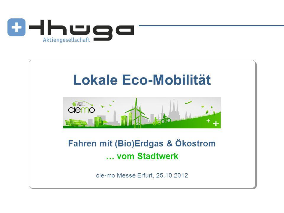 Lokale Eco-Mobilität Fahren mit (Bio)Erdgas & Ökostrom … vom Stadtwerk cie-mo Messe Erfurt, 25.10.2012
