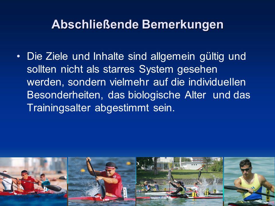17.11.2007Seite 18 Abschließende Bemerkungen Die Ziele und Inhalte sind allgemein gültig und sollten nicht als starres System gesehen werden, sondern