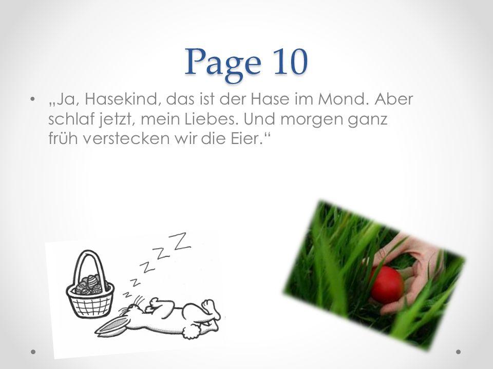 Page 10 Ja, Hasekind, das ist der Hase im Mond. Aber schlaf jetzt, mein Liebes.