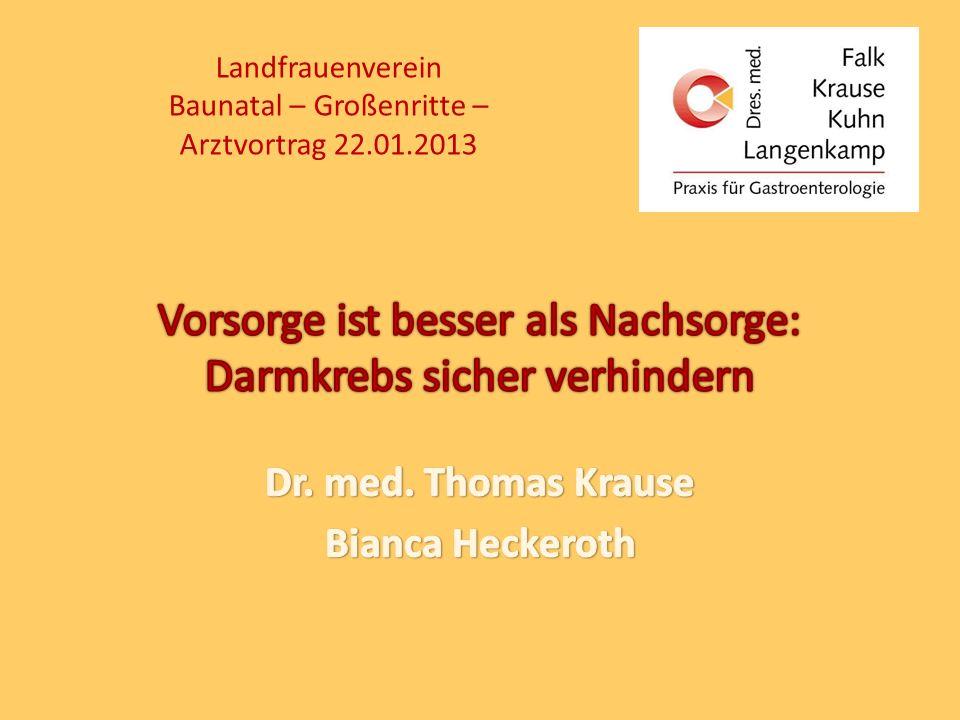 Landfrauenverein Baunatal – Großenritte – Arztvortrag 22.01.2013