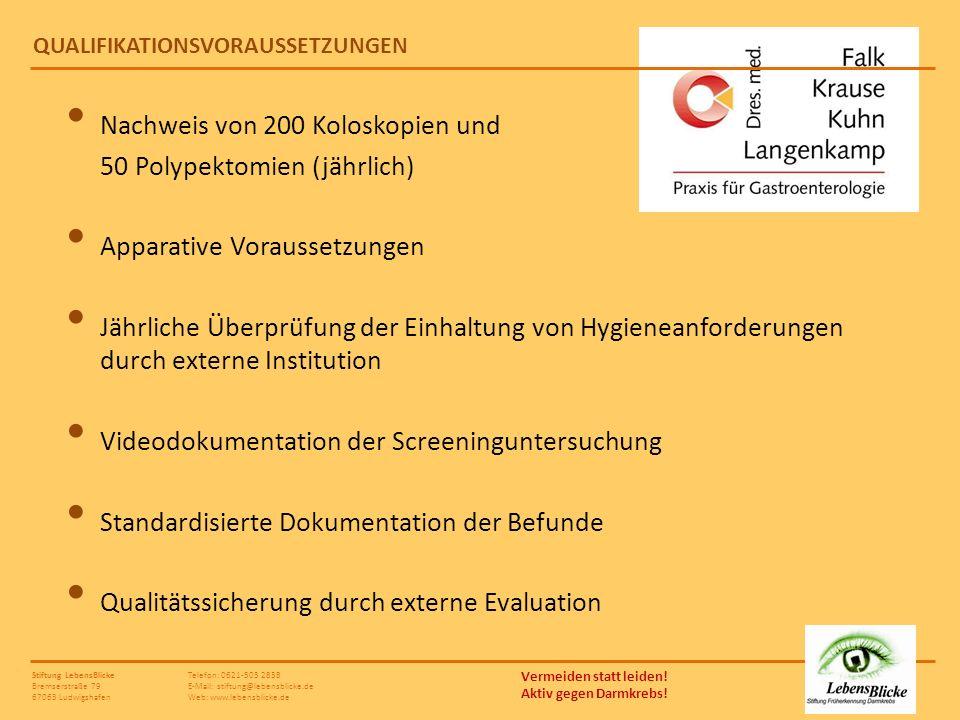 Telefon: 0621-503 2838 E-Mail: stiftung@lebensblicke.de Web: www.lebensblicke.de Vermeiden statt leiden! Aktiv gegen Darmkrebs! Stiftung LebensBlicke