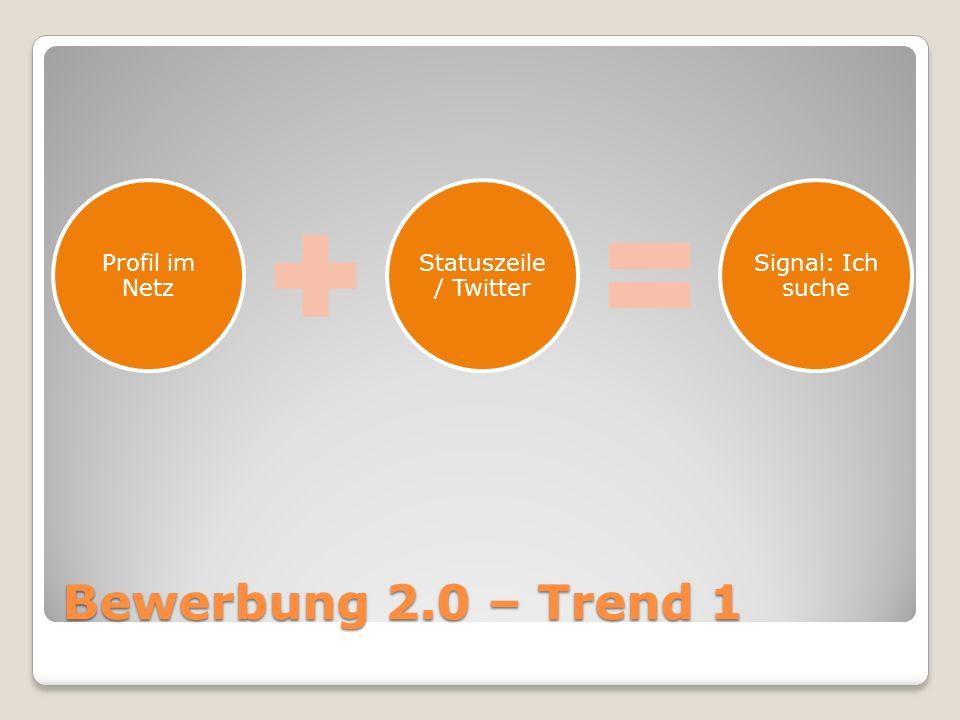 Bewerbung 2.0 – Trend 1
