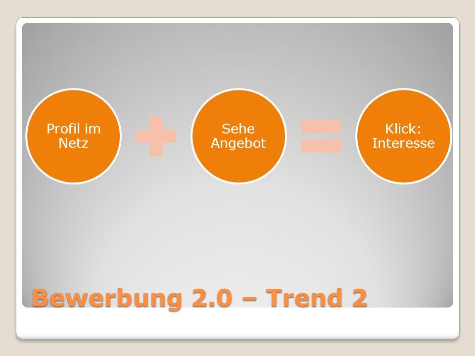 Bewerbung 2.0 – Trend 2