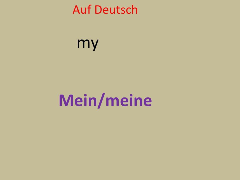 Auf Deutsch my Mein/meine