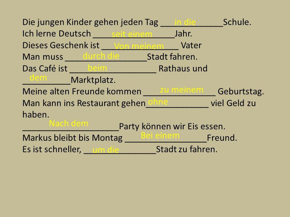 Adjectives after der words.11. Ich trage d__ karriert___ Käppi zu mein___ blau___ Blazer.