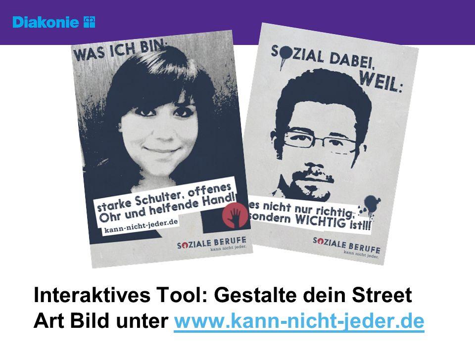 Interaktives Tool: Gestalte dein Street Art Bild unter www.kann-nicht-jeder.dewww.kann-nicht-jeder.de