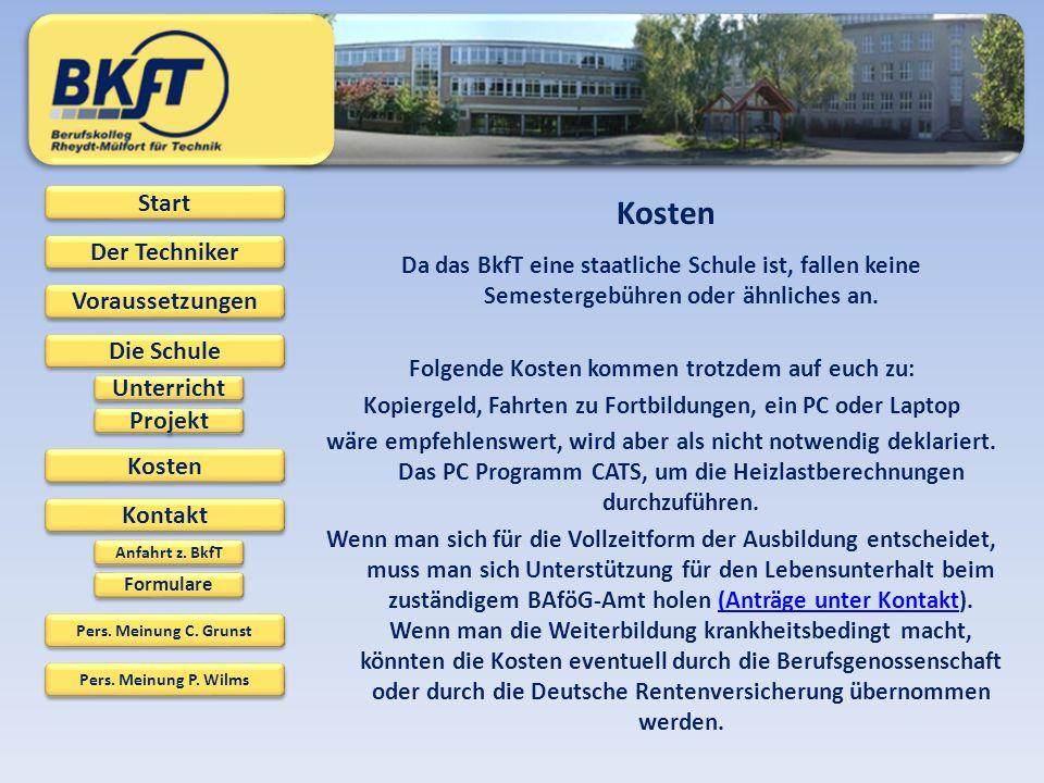 Start Der Techniker Der Techniker Voraussetzungen Kosten Die Schule Kontakt Pers.