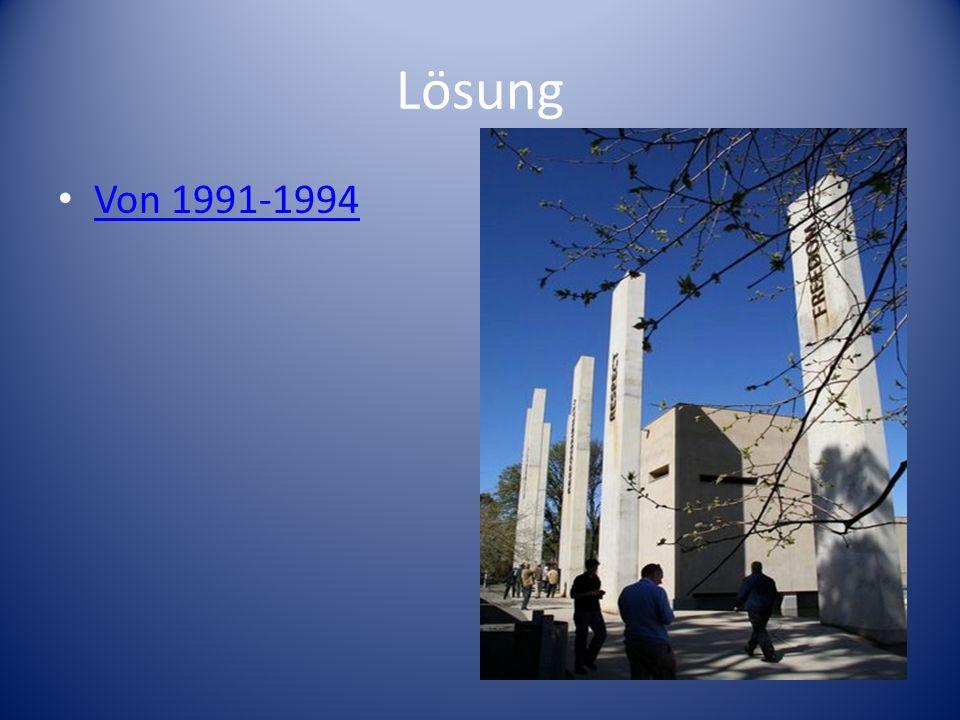 Lösung Von 1991-1994