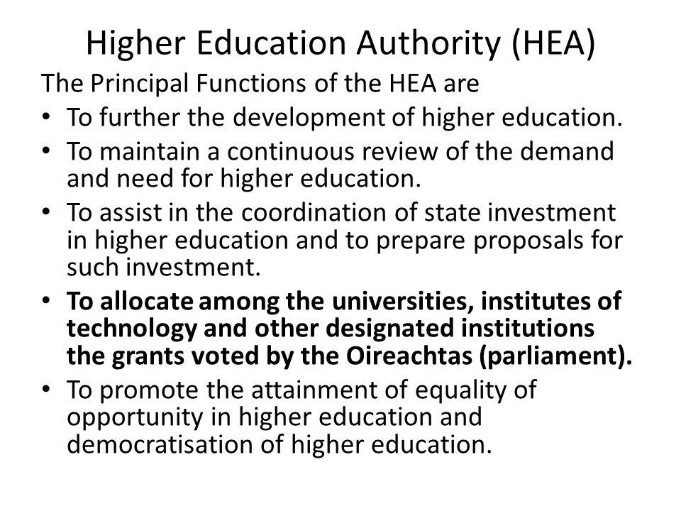 HEA Neuer Vorsitzender der HEA: John Hennessy (vorher: Managing Director von Ericsson Ireland) Fordert u.a.